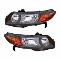 Fits 06-09 Honda Civic Coupe 2.0L Left & Right Headlamp (pair)