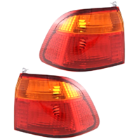 Fits 99-00 Honda Civic Sedan Left & Right Set Tail Lamp Unit Quarter Mounted