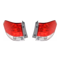 Fits 08-10 Honda Odyssey Left & Right Set Tail Lamp Assemblies Quarter Mounted
