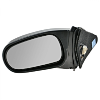 Fits 96-00  Civic Coupe Left Driver Mirror Power Smooth Black
