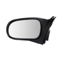 Fits 96-00  Civic Coupe Left Driver Mirror Power Flat Black No Heat