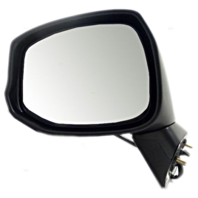Fits 12-13  Civic Left Driver Mirror Power Non-Painted Black w/Heat