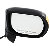 Fits 06-11  Civic Hybrid Right Pass Mirror Power Smooth Black With Signal