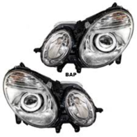 Fits 07-09MB E-CLASS L&R SET HALOGEN HEADLAMP ASSEMBLIES FROM 6/30/06