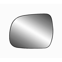 Fits 05-15 Toyota Tacoma, 10-13 Highlander Left Driver Mirror Glass w/Holder