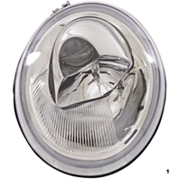 Fits 98-05 VW Beetle (except Turbo S) Left Driver Side Halogen Headlight Assem