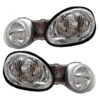Fits 00-01 Kia Spectra Left & Right Headlamp Assemblies - Set