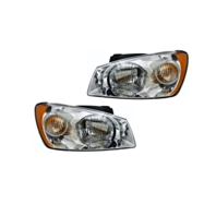 Fits 04-06  Spectra LX Model Left & Right Headlamp Assemblies W/Chrome - Set