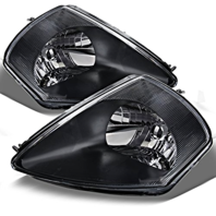 Fits 00-02 To 01-02 Mits Eclipse Left & Right Headlamp Assem - Set W/Black Bezel