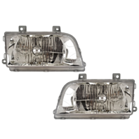Fits 98-02 Kia Sportage Left and Right Headlamp Assemblies - Set