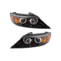 Fits 11-13  Sorento Left & Right Halogen Headlamp Assemblies - Set