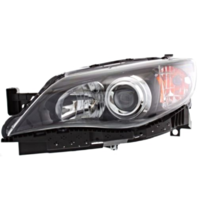 Fits 08-11  Impreza; WRX Left Driver Halogen Headlamp w/Black Bezel