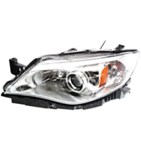 Fits 08-09  Impreza Left Driver Halogen Headlamp Assy w/Chrome Bezel