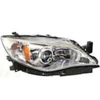 Fits 08-09  Impreza Right Passenger Halogen Headlamp Assy w/Chrome Bezel