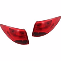 Fits 10-15 Hyundai Tucson Left & Right Set Tail Lamp Assemblies Quarter Mounted