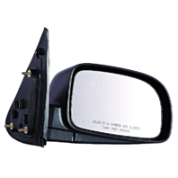Fits 07-12 Santa Fe Right Pass Mirror Power Unpainted Black With Heat