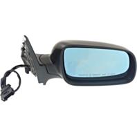 Fits 99-07 Golf, 99-05 Jetta Right Pass Mirror Power Black w/Heat Blue Glass