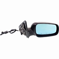 Fits 99-07 Golf, 99-05 Jetta Right Pass Mirror Manual Remote W/Blue Glass