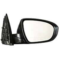 Fits 11-13 Optima Right Pass Mirror Power Smooth Black w/Signal, Manual Fold