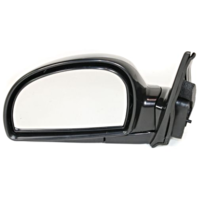 Fits 11/01-06  Accent Left Driver Mirror Power Non-Painted With Heat