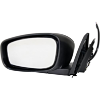 Fits 08-13  G37 Coupe Left Power Mirror Unpainted Black No Ht, Mem