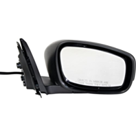 Fits 14-15  Q60 Coupe Right Passenger Power Mirror Unpainted Black