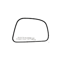 Fits 07-12 Nissan Versa Right Passenger Convex Mirror Glass w/ Rear Holder OE