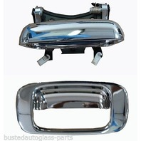 Fits 99-07* Silverado, Sierra Classic Rear Tailgate Chrome Handle & Bezel Set