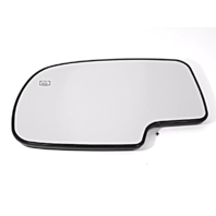 Fits 99-07 Chevy Silverado, GMC Sierra Classic Power, Left Driver Mirror Glass w/ Rear backing plate