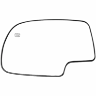 Fits 00-06 Chevy Tahoe GMC Yukon Left Driver Heated Mirror Glass w/Backing Plate