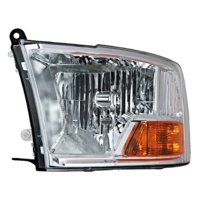Fits 09-10 Dodge 1500 Pickup 10 2500 3500 Pickup Left Headlamp Assm No Quad Lamp