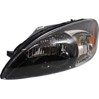 Fits 00-07  Taurus Left Driver Headlamp Assembly With Black Bezel