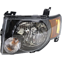 Fits 09-12 Ford Escape & Escape Hybrid Left Driver Headlamp Assembly W/Dark Bezel