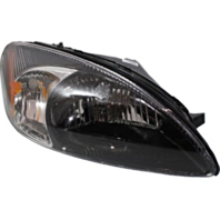Fits 00-07  Taurus Right Pass Headlamp Assembly With Black Bezel