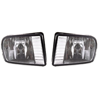 Fits 00-02 Lincoln LS Left Driver and Right Pass Fog Lamp - Rectangular Design