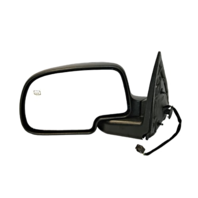 Fits 02 Escalade / Avalanche Left Driver Power Chrome Mirror W/Heat Man Fold