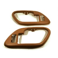 Escalade, Tahoe, Yukon, Suburban Interior Door Handle Bezel, Brown Left & Right Set fits Front/Rear