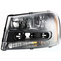 Fits 02-09 Chev Trailblazer 02-06 EXT W/full-width Grill Bar Left Drivr Headlamp