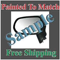 Painted to Match Pwr Mirror Fits 06-11 Civic Sedan Exc Hybrid Left Driver No Ht
