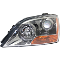 Fits 07-08 Up to Prod 4/21/08  Sorento Left Driver Headlamp Assem W/Gray Bezel