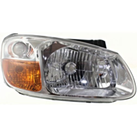 Fits 07-09  Spectra, 07-09 Spectra5 Right Pass Headlamp Assem W/Chrome Bezel