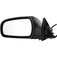 Fits 96-99 Maxima / Inf I30 Left Driver Power Mirror Assem Folding Smooth Black Cover