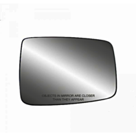 Fits Ram Pickup 1500 2500 3500 Right Pass Mirror Glass  w/Holder SingleLens Type