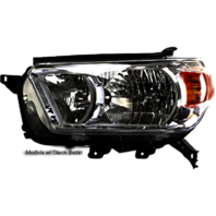 Right Passenger Halogen Headlight Assembly for 10-13  4Runner w/Black Bezel