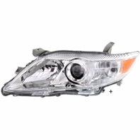 Fits 10-11 Toy Camry Left Driver Headlight Assm Clear Type USA Built Models Only