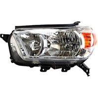 Left Driver Side Halogen Headlight Assembly for 10-13  4Runner w/Chrome Bezel