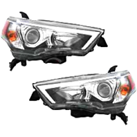 Left & Right Halogen Headlight Assemblies for 14-17  4Runner
