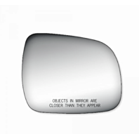 Toy Highlander, Tacoma, 4Runner Right Pass Convex Mirror Glass Lens w/ Adhesive