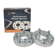 "2pc UberTechnic Hubcentric 20mm (3/4"") Silver Wheel Spacers 60.1mm bore, 5x114.3 for Toyota Avalon, Camry, Supra, MR2, Scion Tc, xB Lexus ES300 ES330 ES350 IS250 IS300 IS350 GS300 GS350"