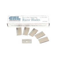 "CRL .012"" Single Edge Heavy Duty Metal Razor Blades 100 pack"